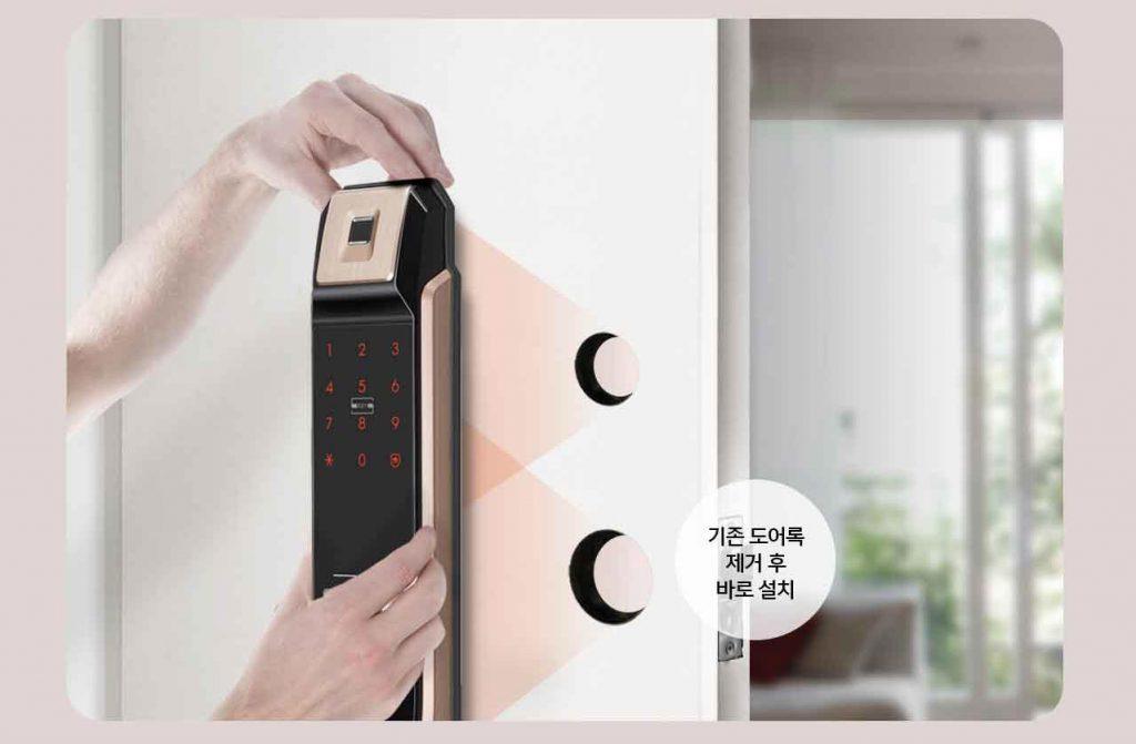 نصب قفل دیجیتال درب ورودی